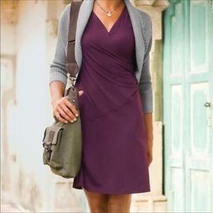 Athleta sangria purple faux wrap dress size small